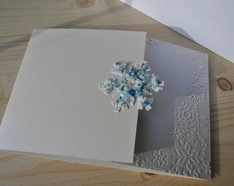 Beaded Snowflake Wedding Invitation
