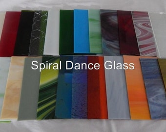 "20 Sheets Stained Glass (4"" x 6"") SPECTRUM Opals Cathderals Waterglass  & More"