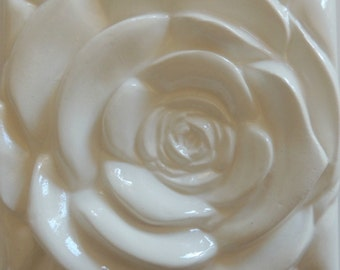 White Rose  White Rose Tile Wall Decor