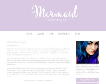Blogger Template- Mermaid |nstant Download