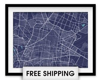 Mexico City Map Print - Choose your color