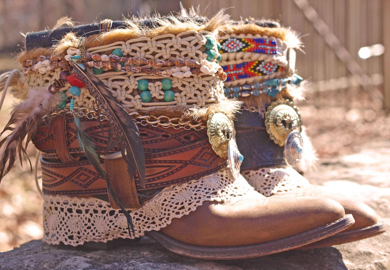Vintage Boho Boots 7