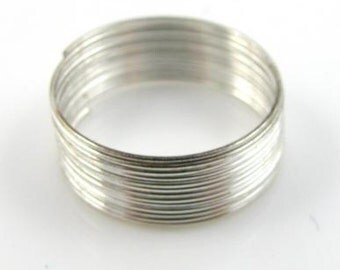 100 Loops of Steel Ring Memory Wire 2.2cm 22mm