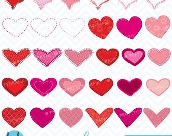 valentine hearts clipart commercial use, vector graphics, digital clip art, digital images - CL447