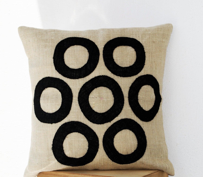 All Black Throw Pillows : Ivory Throw Pillows Black Geometric Decorative Pillow All