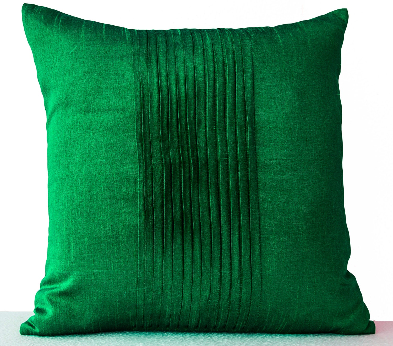 Green Silk Throw Pillow : Decorative Pillow For Couch Throw Pillows in Emerald Green