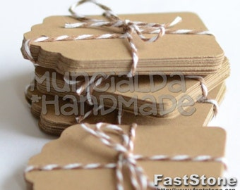 50 natural paper tags - choose the color you like!