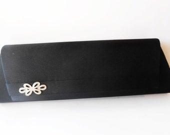 Black Evening Bag Vintage Black Clutch Handbag Elegant EB-0130