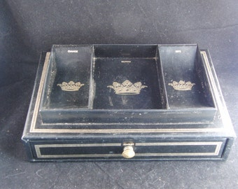 Vintage Swank Design by Philippe black jewelry box