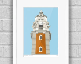 Lambeth Town Hall, London - Limited Edition Giclée Art Print / Poster