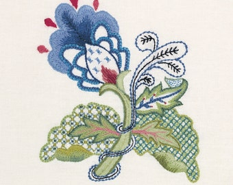 Crewel Embroidery kit - BLUE ELEGANCE