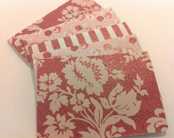 Blooming Red blank note card set