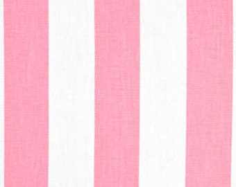 Handmade Curtain/Window Valance 50W x 15L in Bubble Gum Pink and White Stripes, Home Decor,Nursery,Baby's Room