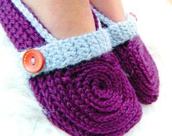 Instant download - PDF crochet pattern - Women crochet slipper # 30