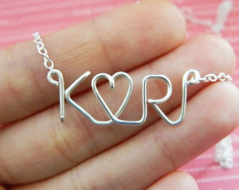 Personalized Lovers Initials Necklace