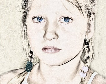 Custom sketch - Portrait - Digital Sketch - Custom Artwork - Portrait  Art - Digital Portrait art - Digital File - child portrait
