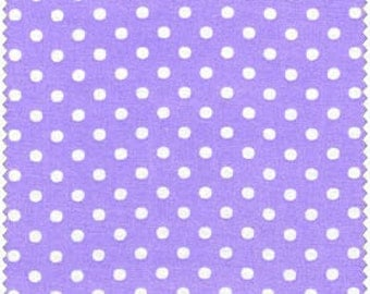 Lilac/ White Polka Dot from RJR Fabrics Crazy for Dots & Stripes  - Yardage