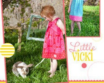 Little Vicki Dress Multi Size Paper Sewing Pattern by Izzy & Ivy Designs
