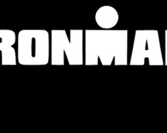 Ironman Triathlon Inspired Vinyl Decal