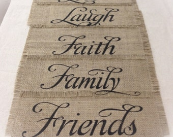 "Burlap Placemats 12"" x 18"" - set of 4, 6,  or 8"