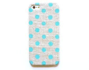Mint dot iPhone 5c case, Polka dot iPhone 6 case, Striking iPhone 5s case, iPhone 4s case