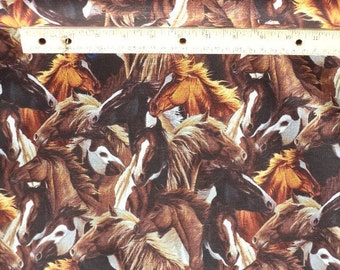 """horse fabric, Windham, """"Sierra Trail"""", brown, Paint horse, equine fabric"""