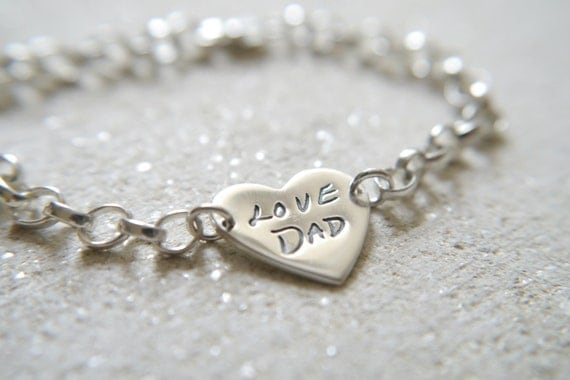 handwriting jewellery heart shaped by littleimpjewellery