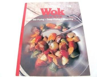 Vintage Wok Cookbook, 1980s Sunset Wok, Stir-Fry Recipes, Chinese Recipes, Cookbook, Vintage Cookbook, 1980s Recipes