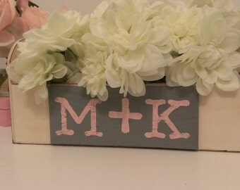 rustic wedding centerpiece, shabby chic wedding planter centerpiece, personalized country decor, custom colors
