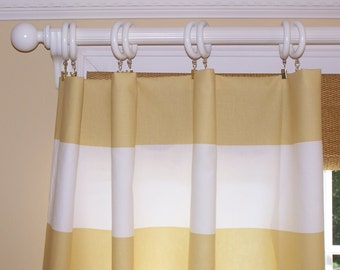 Striped curtains – Etsy