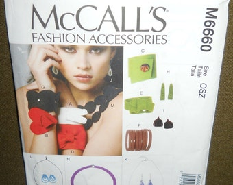 Wool Felt Bracelet Earrings Necklace Jewelry Pattern 1sz
