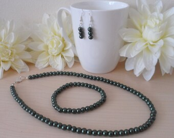 Olive Green Pearl Set