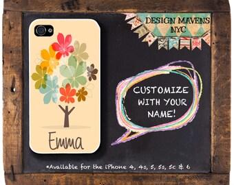Autumn Tree iPhone Case, Fall Phone Case, Monogrammed iPhone Case, iPhone 5, 5s, 5c, 4, 4s, iPhone 6, 6s, 6 Plus, SE, iPhone 7, 7 Plus