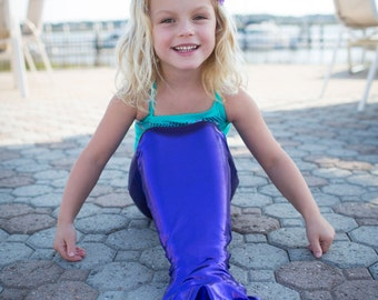 swimmable mermaid tail with monofin open or closed bottom