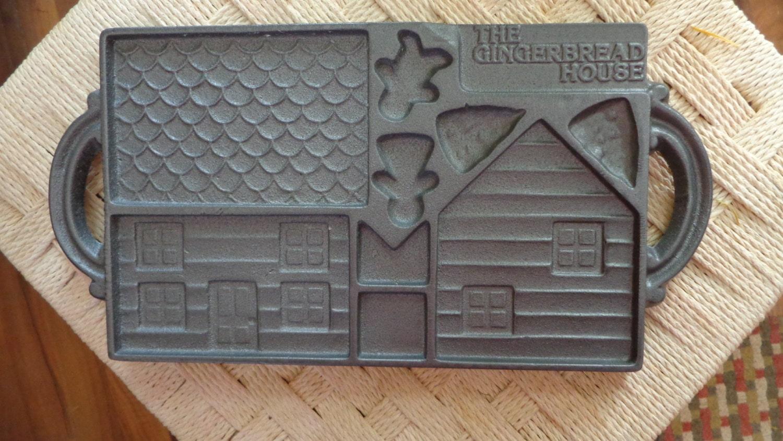 John Wright Cast Iron Gingerbread House Mold