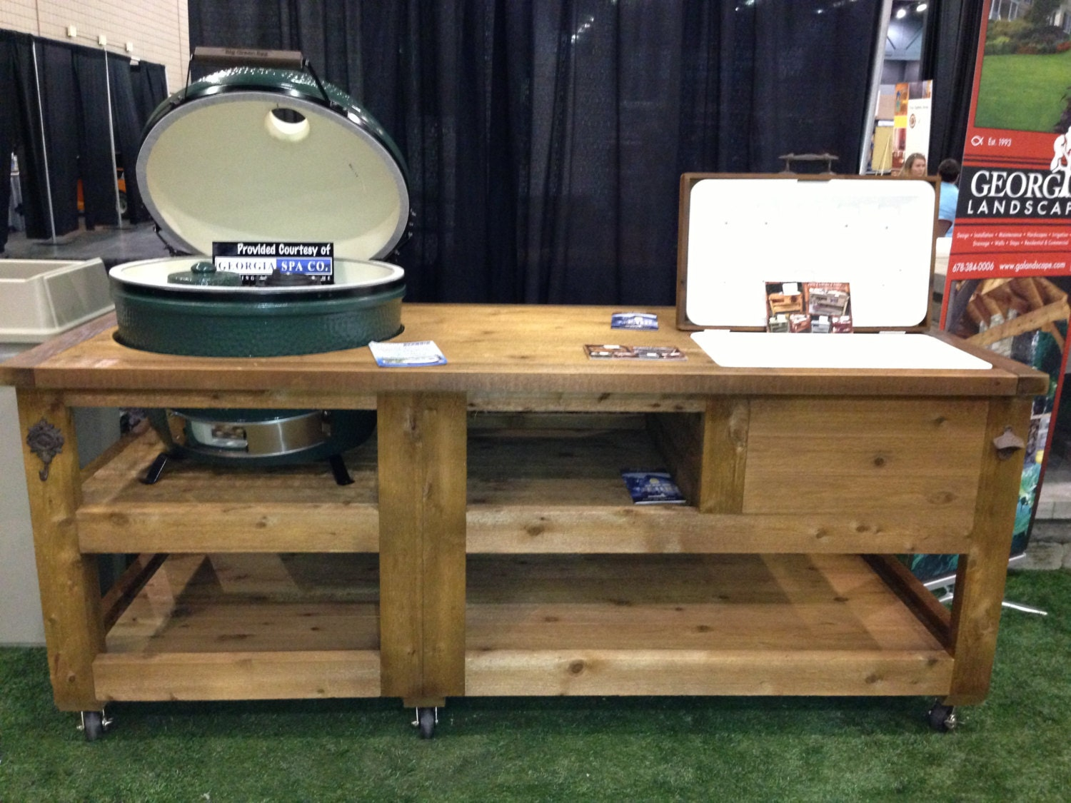 Xl Green Egg Table Plans Grill & Chill Table Big Green Egg / Kamado Joe / by RusticWoodWorX