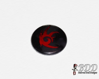 Black Arms Button 1 Inch Goth Pin Back Button