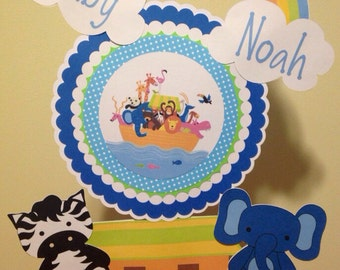 Noah's Ark Baby Shower Centerpiece