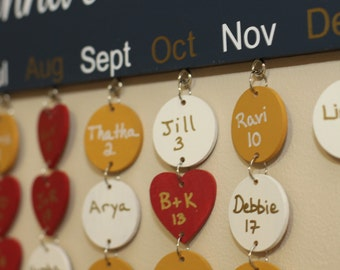 6 extra birthday tags for board