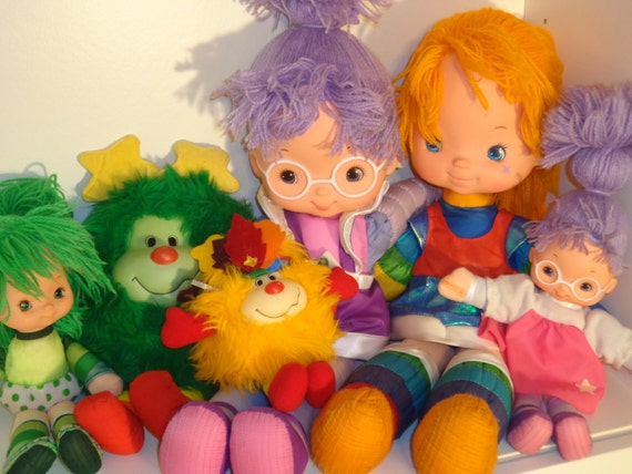 Rainbow Brite dolls / sprites Shy Violet, Patty O'Green