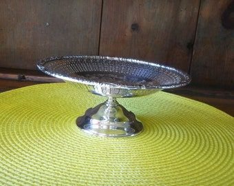 Pedestal Candy Dish Silver Plate