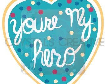 You're My Hero Goodie Bag Tag Valentine Wreck It Ralph Inspiried