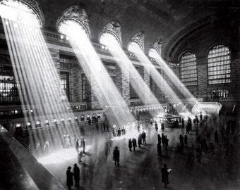 New York Grand Central Station 1920s. Print