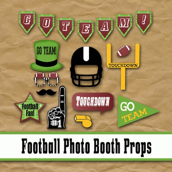 Football Printable Photo Booth Props