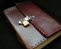 LOCKABLE Handmade SECRETJournal Diary Sketchbook with Matching Padlock - Pages of Cartridge Paper - Freepost UK