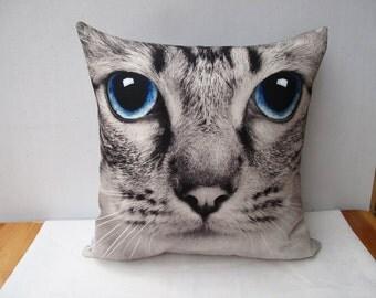 Cat Pillow Decorative velvet pillow cushion cover animal double sides/home decor/optional sizes