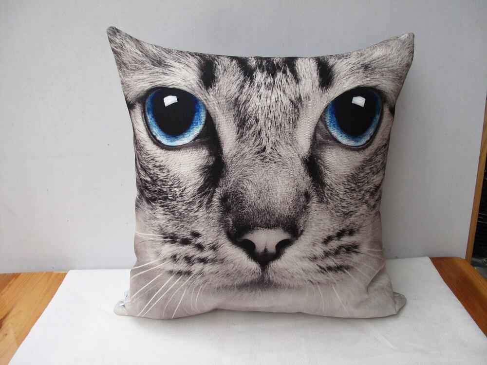 Cat Pillow Decorative Velvet Pillow Cushion Cover Animal