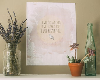Isaiah 46:4 Matte cardstock print 8.5x11