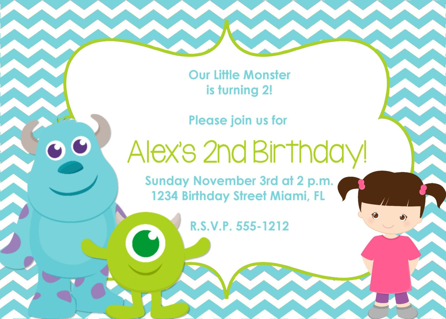 Monsters Inc Birthday Invitations was awesome invitations layout