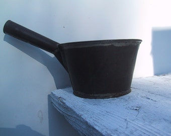 Vintage Copper Sauce Pan with Fantastic Character